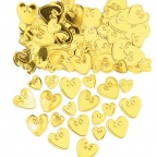 Конфетти Сердца с вензелем Золото 14гр/уп