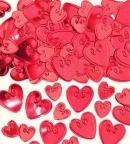 Конфетти Сердца с вензелем Красные 14гр/уп
