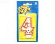 """Свеча - цифра """"4"""" 7,6 см"""