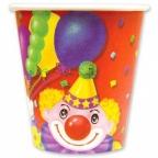 Стакан Клоун с шарами 190 мл 6шт/уп