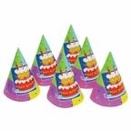 Колпак Торт Birthday 6 шт/уп