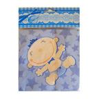 Шар Салфетки С днем Рождения, Малыш голубые