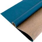 Крафт - Бумага верджтрованная однотонная Синяя / рулон