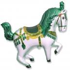 Лошадь цирковая зеленая