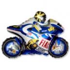 Мотогонщик синий