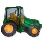 Трактор зеленый