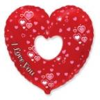 Шар Сердце в сердце Вырубка