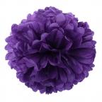 Помпон из бумаги фиолетовый