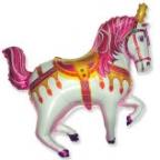 Шар Нарядная лошадь фуксия