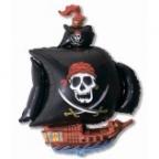 Шар Пиратский корабль черный
