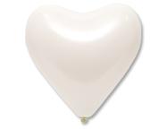 Шар Сердце белый