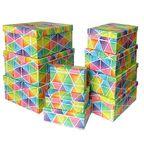 """Набор коробок 10 в 1 """"Геометрия.Ромбы"""" / прямоугольник"""