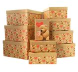"""Набор коробок 10 в 1 """"Мишка с любовью"""" / прямоугольник"""
