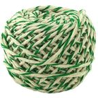 Шнур хлопковый Бело-Зеленый 2 нити / 50 м