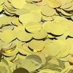 Конфетти фольга, Круги, Золото, 100гр, 2см
