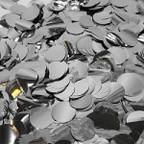 Конфетти фольга, Круги, Серебро, 100гр, 2см