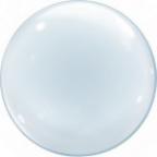 "Шар (24""/61 см) Сфера 3D, Deco Bubble, Прозрачный, 50 шт"