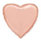 Шар Сердце Розовое золото