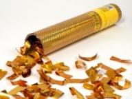 Пневмохлопушка в пластике Золотое конфетти 30 см