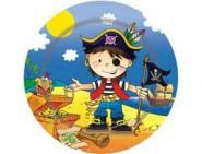 Шар Тарелка Маленький пират 17см 6шт/уп