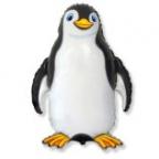 Шар Счастливый Пингвин черный