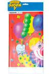 Скатерть п/э Клоун с шарами 140х180 см/уп
