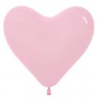 Шар S Сердце Розовый / Bubble Gum Pink