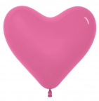 Шар S Сердце Тёмно Розовый / Fuchsia