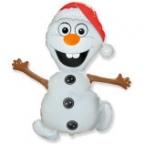 Шар Снеговик в шапочке