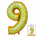 Цифра 9 Пончик в упаковке / Zero