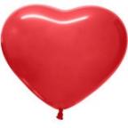 Шар Турция Сердце Красный, Пастель / Red
