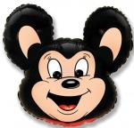 Шар Мощный мышонок черный