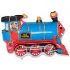 Шар Поезд синий