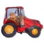 Шар Трактор красный