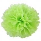 Помпон из бумаги салатовый