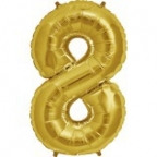 "Шар Цифра ""8"" Золото / Eight"