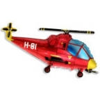 Шар Вертолет красный