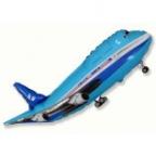 Шар Самолет синий