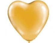 Шар Сердце Металлик Золото