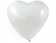Шар Сердце Пастель Белый / White