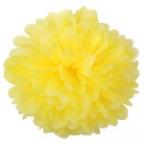 Помпон из бумаги желтый