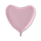 Шар Сердце Пастель Розовый / Pink