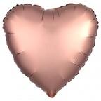 """Шар Р Сердце 18""""/46см Розовое золото сатин"""
