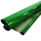 Пленка Голография Зеленая 190гр 40мкм / рулон