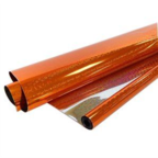 Пленка Голография Оранжевая 190гр 40мкм / рулон